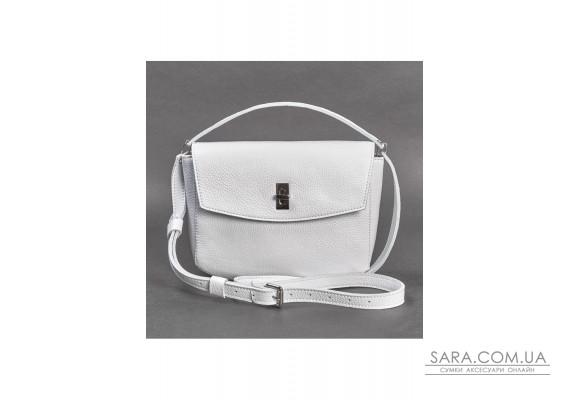Жіноча шкіряна міні-сумка Eve біла флотар - TW-Iv-white-flo BlankNote