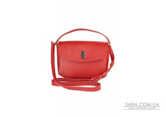 Жіноча шкіряна міні-сумка Eve червона флотар - TW-Iv-red-flo BlankNote