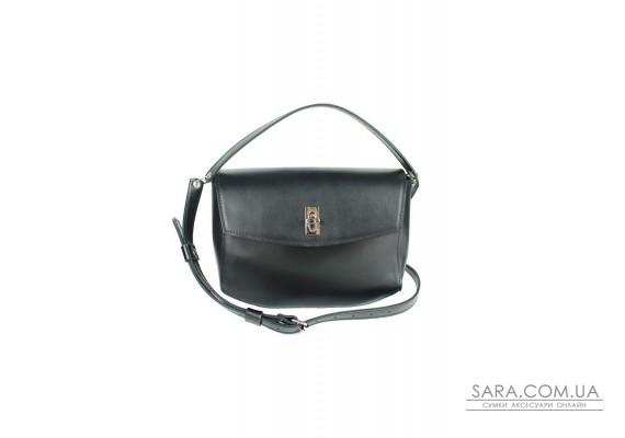 Жіноча шкіряна міні-сумка Eve чорна - TW-Iv-black-ksr BlankNote