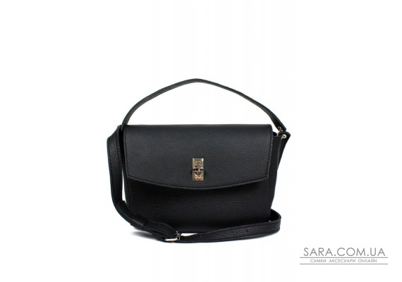 Жіноча шкіряна міні-сумка Eve чорна флотар - TW-Iv-black-flo BlankNote