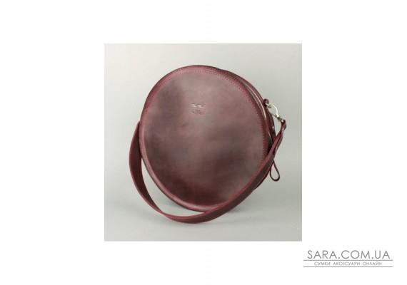 Жіноча шкіряна сумка Amy L бордова вінтажна - TW-Amy-big-mars-crz BlankNote