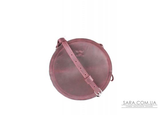 Жіноча шкіряна сумка Amy S бордова вінтажна - TW-Amy-small-mars-crz BlankNote