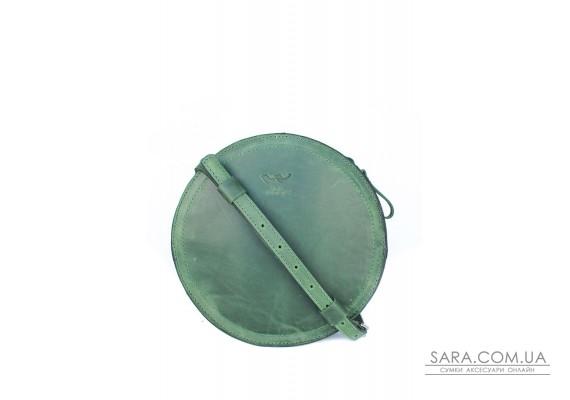 Жіноча шкіряна сумка Amy S зелена вінтажна - TW-Amy-small-green-crz BlankNote