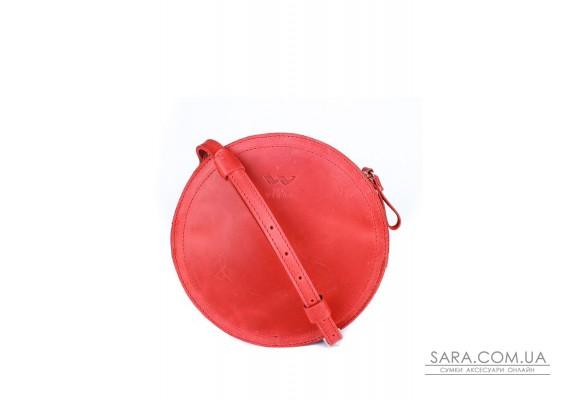 Жіноча шкіряна сумка Amy S червона вінтажна - TW-Amy-small-red-crz BlankNote