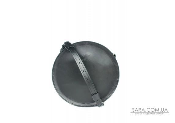 Жіноча шкіряна сумка Amy S чорна - TW-Amy-small-black-ksr The Wings
