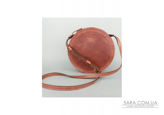 Жіноча шкіряна сумка Amy S світло-коричнева вінтажна - TW-Amy-small-kon-crz The Wings