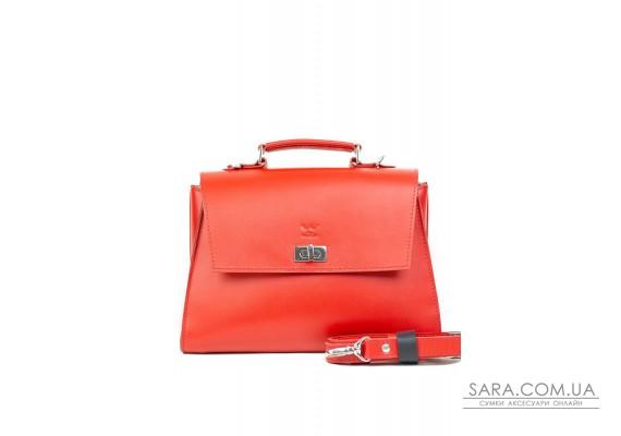 Жіноча шкіряна сумка Classic червона - TW-Classic-red-ksr The Wings