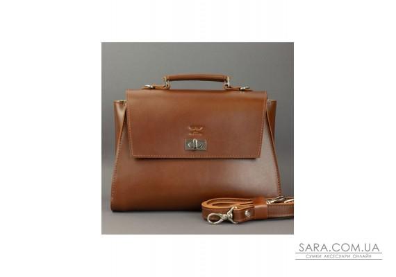 Жіноча шкіряна сумка Classic світло-коричнева - TW-Classic-kon-ksr The Wings