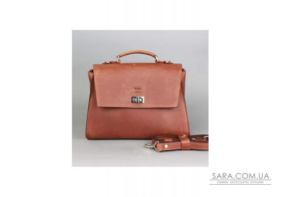Жіноча шкіряна сумка Classic світло-коричнева вінтажна - TW-Classic-kon-crz The Wings