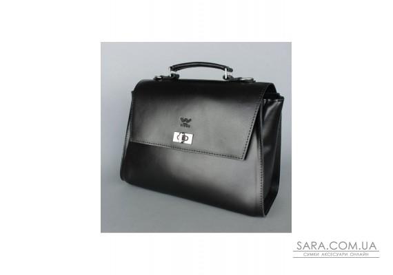 Жіноча шкіряна сумка Classic чорна - TW-Classic-black-ksr The Wings