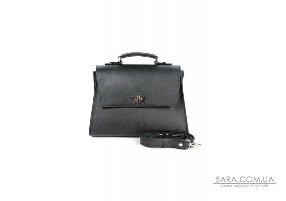 Жіноча шкіряна сумка Classic чорна сап'ян - TW-Classic-black-saf The Wings