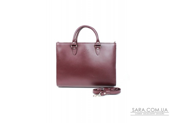 Жіноча шкіряна сумка Fancy A4 бордова - TW-Fency-A4-mars-ksr The Wings