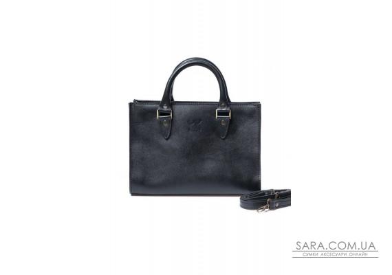 Жіноча шкіряна сумка Fancy чорна - TW-Fency-black-ksr The Wings