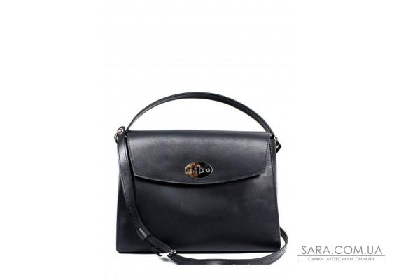 Жіноча шкіряна сумка Iris чорна - TW-Iris-black-ksr The Wings