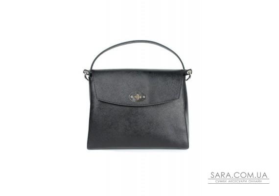 Жіноча шкіряна сумка Iris чорна сап'ян - TW-Iris-black-saf The Wings