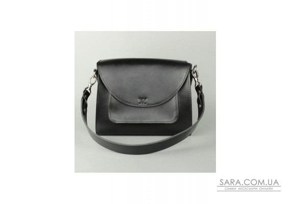 Жіноча шкіряна сумка Liv чорна - TW-Liv-black-ksr The Wings