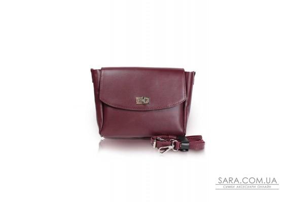 Жіноча шкіряна сумка Mini Cross бордова - TW-MiniCross-wine-ksr The Wings