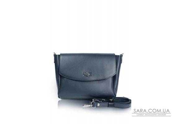 Жіноча шкіряна сумка Mini Cross синя - TW-MiniCross-blue-ksr The Wings