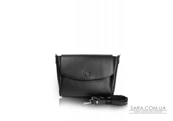 Жіноча шкіряна сумка Mini Cross чорна - TW-MiniCross-black-ksr The Wings