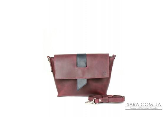 Жіноча шкіряна сумка Nora бордово-синя вінтажна - TW-Nora-mars-blue-crz The Wings