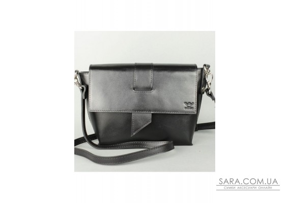 Жіноча шкіряна сумка Nora чорная - TW-Nora-black-ksr The Wings