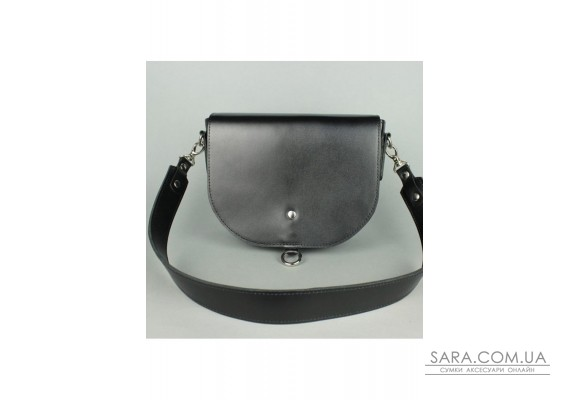 Жіноча шкіряна сумка Ruby L чорна - TW-Ruby-big-black-ksr The Wings