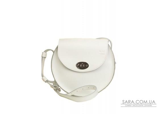 Жіноча шкіряна сумка Кругла біла - TW-RoundBag-white-ksr The Wings