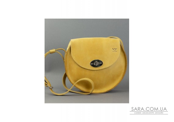 Жіноча шкіряна сумка Кругла жовта вінтажна - TW-RoundBag-yell-crz The Wings