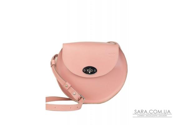 Жіноча шкіряна сумка Кругла рожева - TW-RoundBag-pink-ksr The Wings