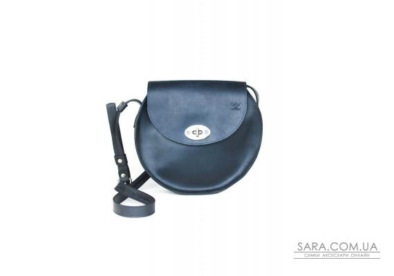 Жіноча шкіряна сумка Кругла синя вінтажна - TW-RoundBag-blue-crz The Wings