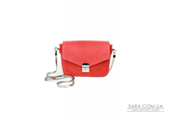 Жіноча шкіряна сумочка Yoko червона вінтажна - TW-Yoko-red-crz The Wings