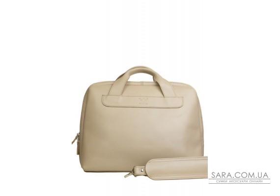 Шкіряна ділова сумка Attache Briefcase бежевий - TW-Attache-Briefcase-beige-ksr The Wings