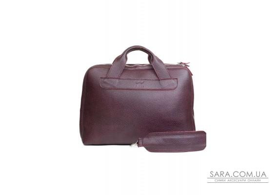 Шкіряна ділова сумка Attache Briefcase бордовий флотар - TW-Attache-Briefcase-mars-flo The Wings