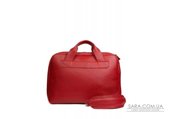 Шкіряна ділова сумка Attache Briefcase червоний флотар - TW-Attache-Briefcase-red-flo The Wings