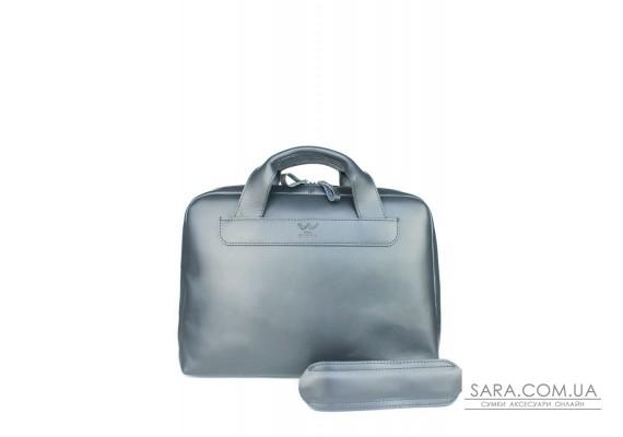 Шкіряна ділова сумка Attache Briefcase синій - TW-Attache-Briefcase-blue-ksr The Wings
