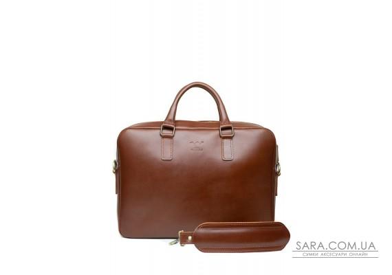 Шкіряна ділова сумка Briefcase 2.0 світло-коричневий - TW-Briefcase-2-kon-ksr The Wings