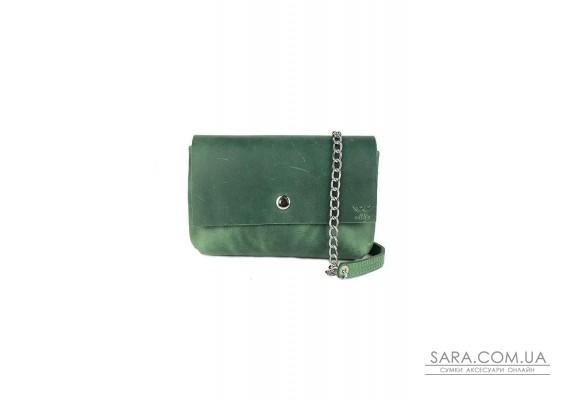 Шкіряна міні-сумка Holiday зелена вінтажна - TW-Hollyday-green-crz The Wings