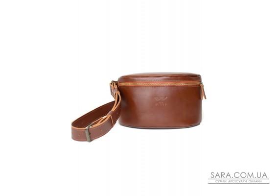 Шкіряна поясна сумка світло-коричнева - TW-BeltBag-kon-ksr The Wings