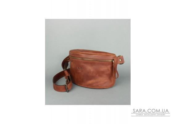 Шкіряна поясна сумка світло-коричнева вінтажна - TW-BeltBag-kon-crz The Wings