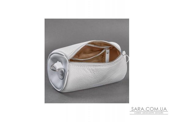 Шкіряна сумка поясна-кроссбоді Cylinder біла флотар - TW-Cilindr-white-flo The Wings