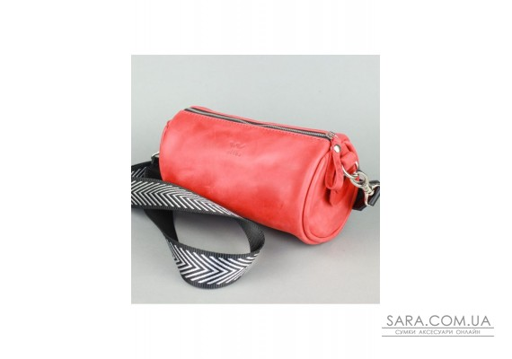 Шкіряна сумка поясна-кроссбоді Cylinder червона вінтажна - TW-Cilindr-red-crz The Wings