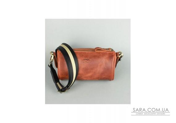 Шкіряна сумка поясна-кроссбоді Cylinder світло-коричнева вінтажна - TW-Cilindr-kon-crz The Wings