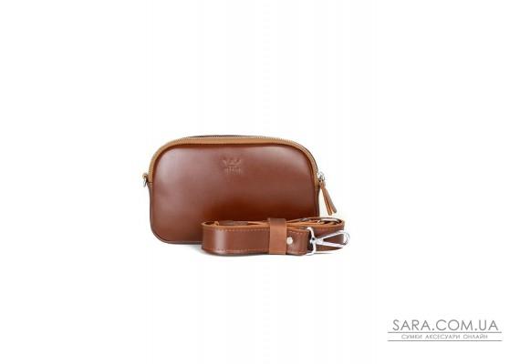 Шкіряна сумка поясна / кроссбоді Holly світло-коричнева - TW-Holly-kon-ksr The Wings