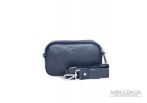 Шкіряна сумка поясна / кроссбоді Holly синя - TW-Holly-blue-ksr The Wings