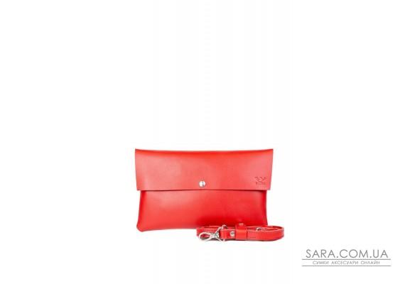 Шкіряний клатч зі знімною шлеєю червоний - TW-Clatch-red-ksr The Wings