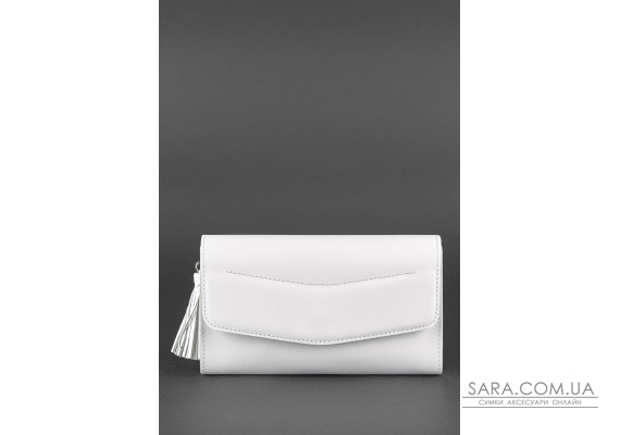 Біла шкіряна жіноча сумка Еліс - BN-BAG-7-light BlankNote
