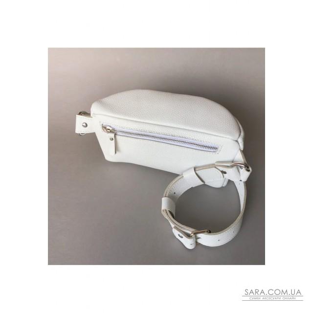 Купити Шкіряна поясна сумку Explorer S біла - TW-Explorer-S-white-flo The Wings. Україна