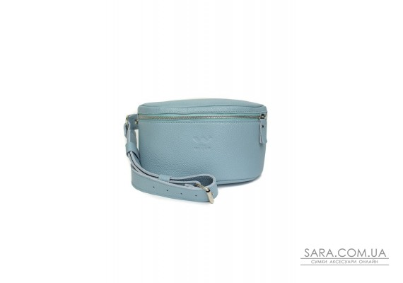 Шкіряна поясна сумка Explorer S блакитна флотар - TW-Explorer-S-blue-flo The Wings