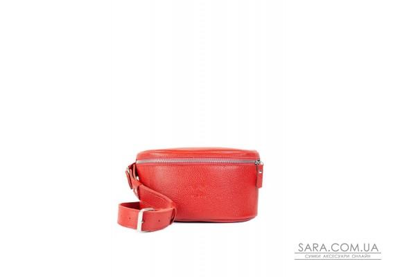 Шкіряна поясна сумка Explorer S червона флотар - TW-Explorer-S-red-flo The Wings