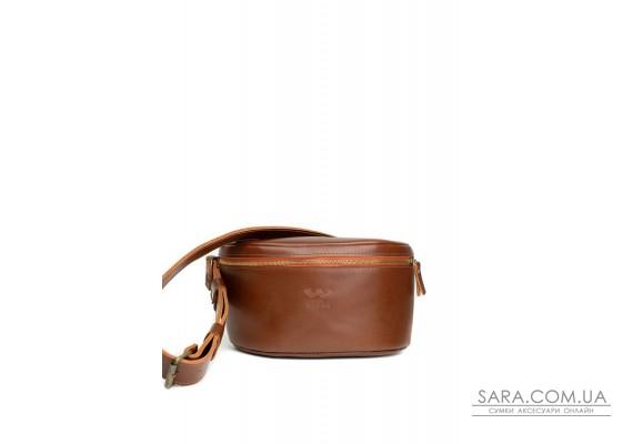 Шкіряна поясна сумка Explorer S світло-коричнева - TW-Explorer-S-kon-ksr The Wings